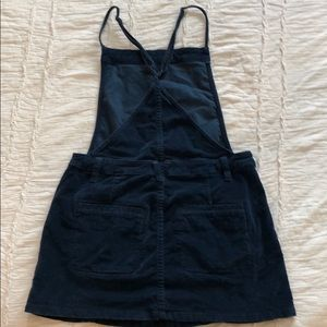 Free People Dresses - Free people Navy blue corduroy overall dress